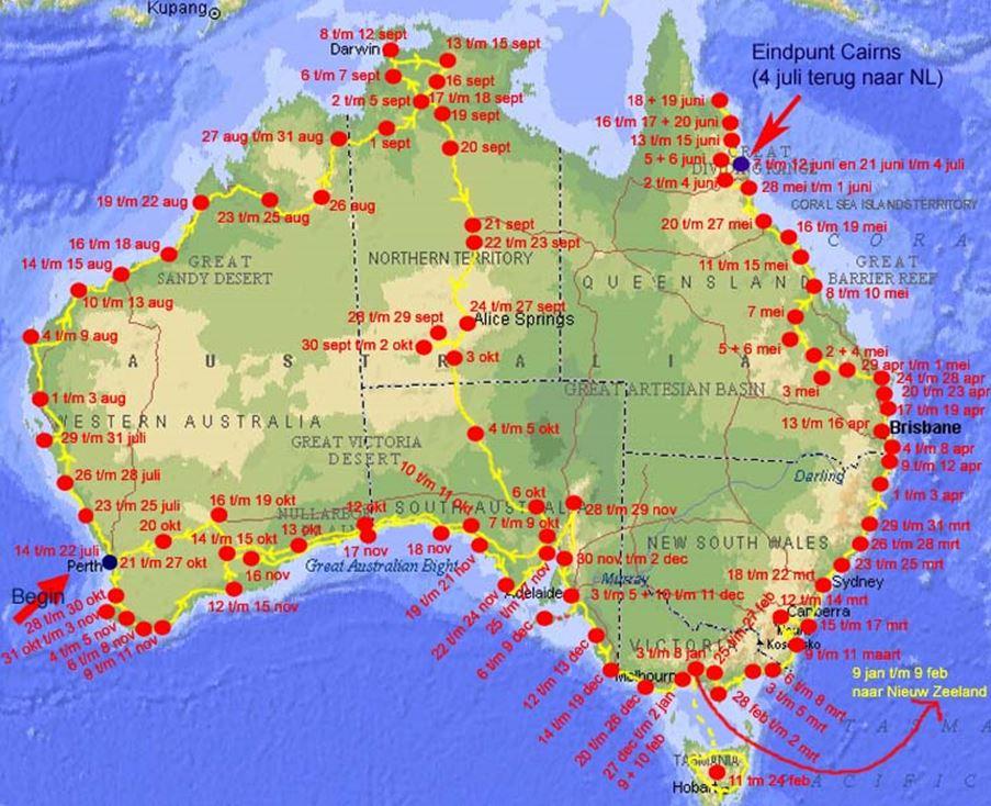 route australie